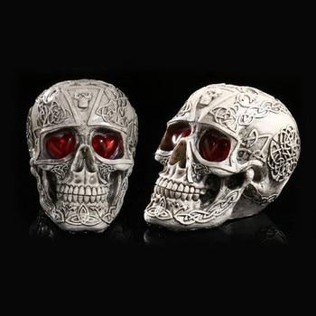 LED Menschlichen Form Skeleton Kopf Homosapiens Schädel Statue Figurine Dämon Böse Wohnkultur