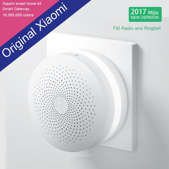 2016 100% original novo xiaomi inteligente web rádio wi-fi e ringbell portal inteligente casa inteligente automático para mi casa suíte 1 pcs