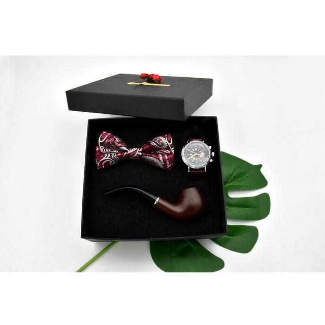 Us 22 74 42 Off New Men S Retro Pipe Quartz Watch Set Gift Box Birthday Gift Christmas Gift New Year S Gift In Quartz Watches From Watches On