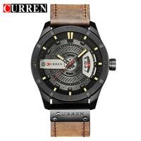 Top Brand Luxury Sport Watch Men Date Display Leather Creative Quartz Fashion Casuan Wrist Watches Relogio