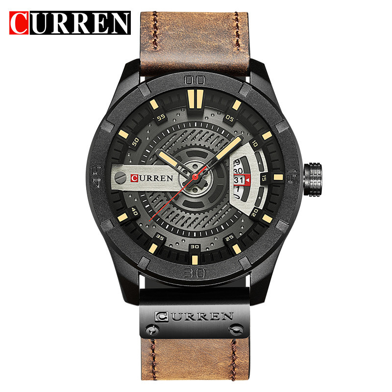 Top Brand Luxury Sport Watch Men date display Leather Creative Quartz Fashion Casuan Wrist Watches Relogio Masculino CURREN 8301