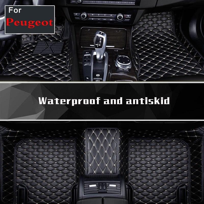 Car Floor Mats 5 Series, Car Mat Black Beige Gray Brown For Peugeot 206 207 301 307 408 308 308s 508 2008 5008