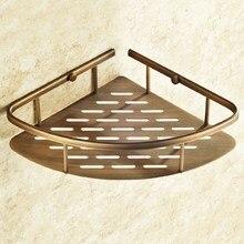 Antique Brass Corner Shower Caddy Basket Bathroom Storage Shelf Rack Bathroom Basket Holder Wall Mounted Kba510 стоимость
