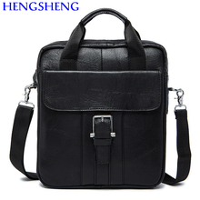 Hengsheng Promotion genuine leather men bags of cow leather men messengers bag for business men shoulder bags and man handbags
