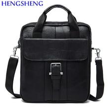 Hengsheng Promotion genuine leather men bags of cow leather men messengers bag for business men shoulder