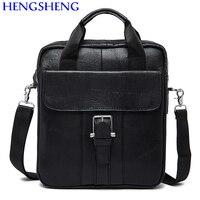Hengsheng Promotion genuine leather men bags of cow leather men messengers bag for business men shoulder bags and man handbags