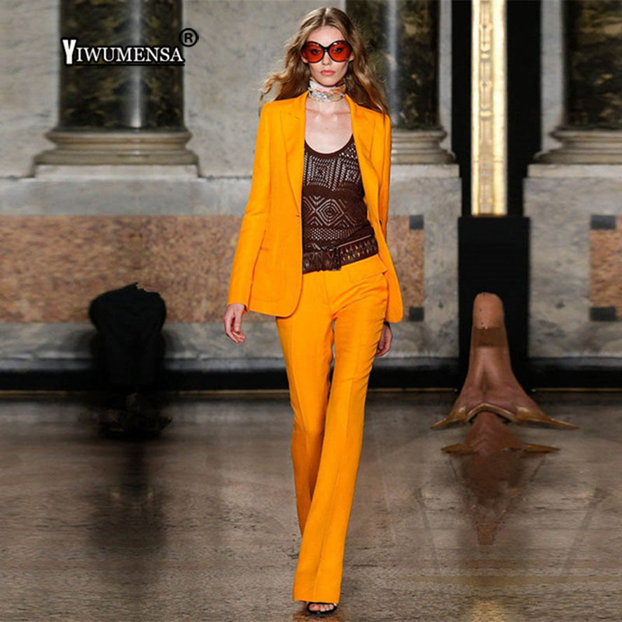 Blazer As 2 Bureau Femmes Jacketpants Orange Pantalon Uniforme Personnalisé Fait Pantalons Style Dames Pièce Costumes Business Pour Ensemble The Slim Model Fit w8OqHOpaWA