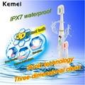 Kemei электрическая зубная щетка Водонепроницаемый Батарейках Sonic Зубная Щетка + Дополнительная Зубов Головка Щетки Гигиена Полости Рта Для детей взрослых 5050