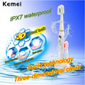 Kemei electric toothbrush Waterproof Battery Operated Sonic Tooth Brush +Extra Teeth Brush Head Oral Hygiene For kids adult 5050