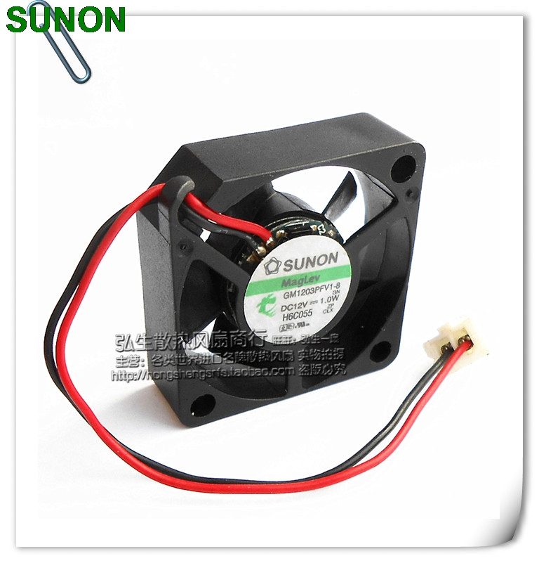 Sunon 12V 1.0W GM1203PFV1-8 3cm 2 line 3010 magnetic suspension cooling fan цены