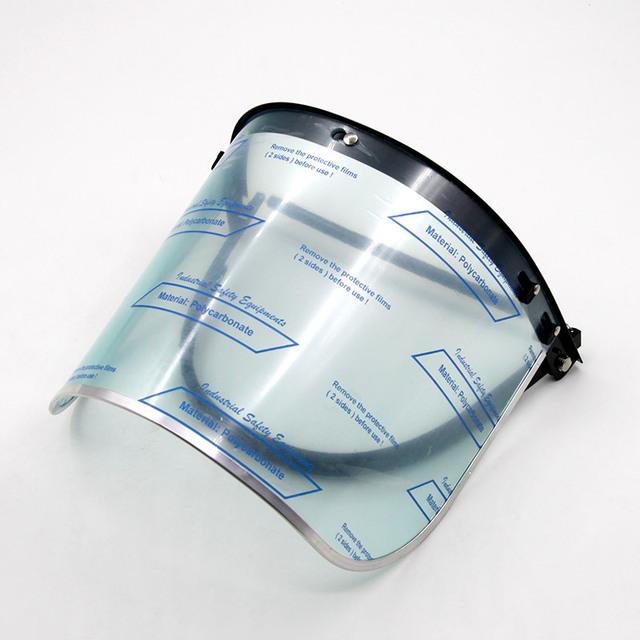 Nueva máscara por soldadura de alto impacto ABS color transparente caretas de aluminio serging pantalla soldadura superficie pantalla 2 unidades