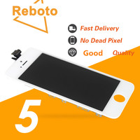 Aaa/تيانما الجودة ل فون 5 lcd مع شاشة اللمس كامل مجموعة الجمعية أسود/أبيض اللون