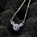 Mickey Mouse Big Cubic Zirconia Pendant Necklace Jewelry Fashion Women Girls Gifts