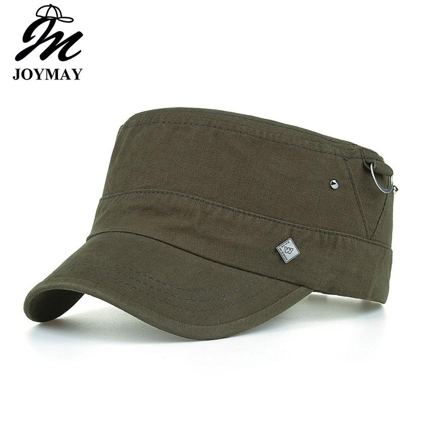7f12d608c3a Joymay New Arrival Spring Unisex Adjustable flat cap Military Hats Fashion
