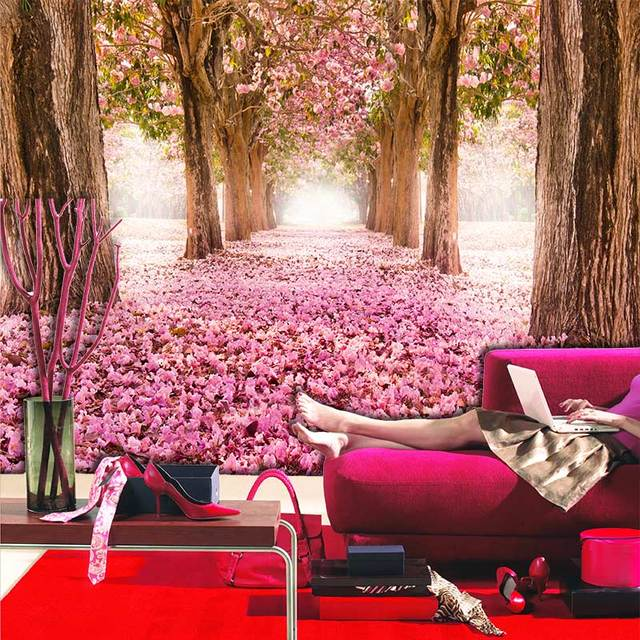Big tree pink flower photo wall paper mural papel parede 3d living big tree pink flower photo wall paper mural papel parede 3d living room bedroom wall papers mightylinksfo