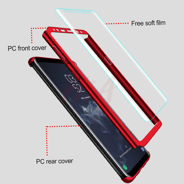 360 Full Cover Phone Case For Samsung Galaxy S10 S9 S8 Plus S7 Edge Note 9 8 Shockproof Cover S10 lite Fundas Capa 1