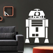 Star Wars movie character R2-D2 robot vinyl wall decal anime fans home decoration stickers DY16
