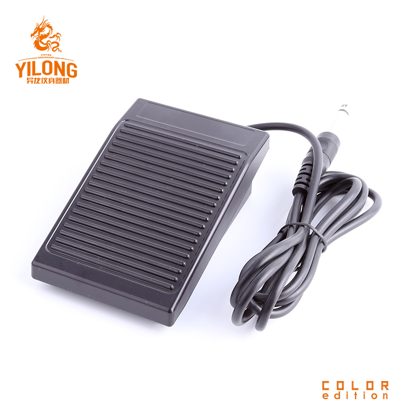 YILONG New Black Plastic Tattoo Foot Pedal Switch Pedal Compact Tattoo Machine Accessory Anti Slip Foot Tattoos Pedal Tools