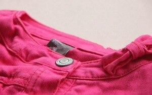 Image 3 - 2 5T באיכות גבוהה אביב בנות מעילי ג ינס הלבשה עליונה רקמת פרח ילדה מעילי ג ינס מעיל ילדים בגדי ילדים בגדים