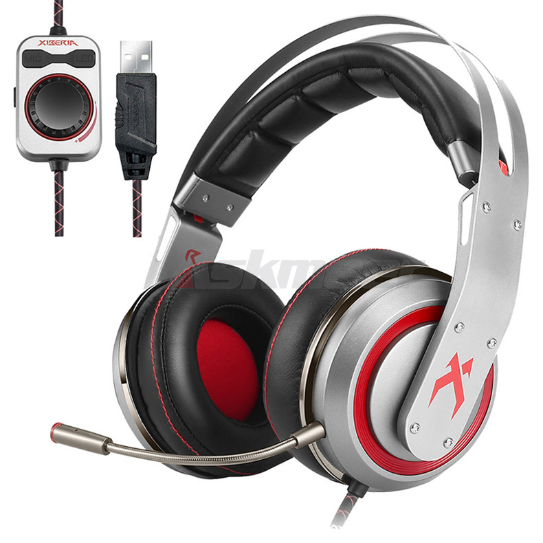 USB Gaming Headphones with Micrphone 7.1 Surround Sound Stereo Glowing Headset (3)
