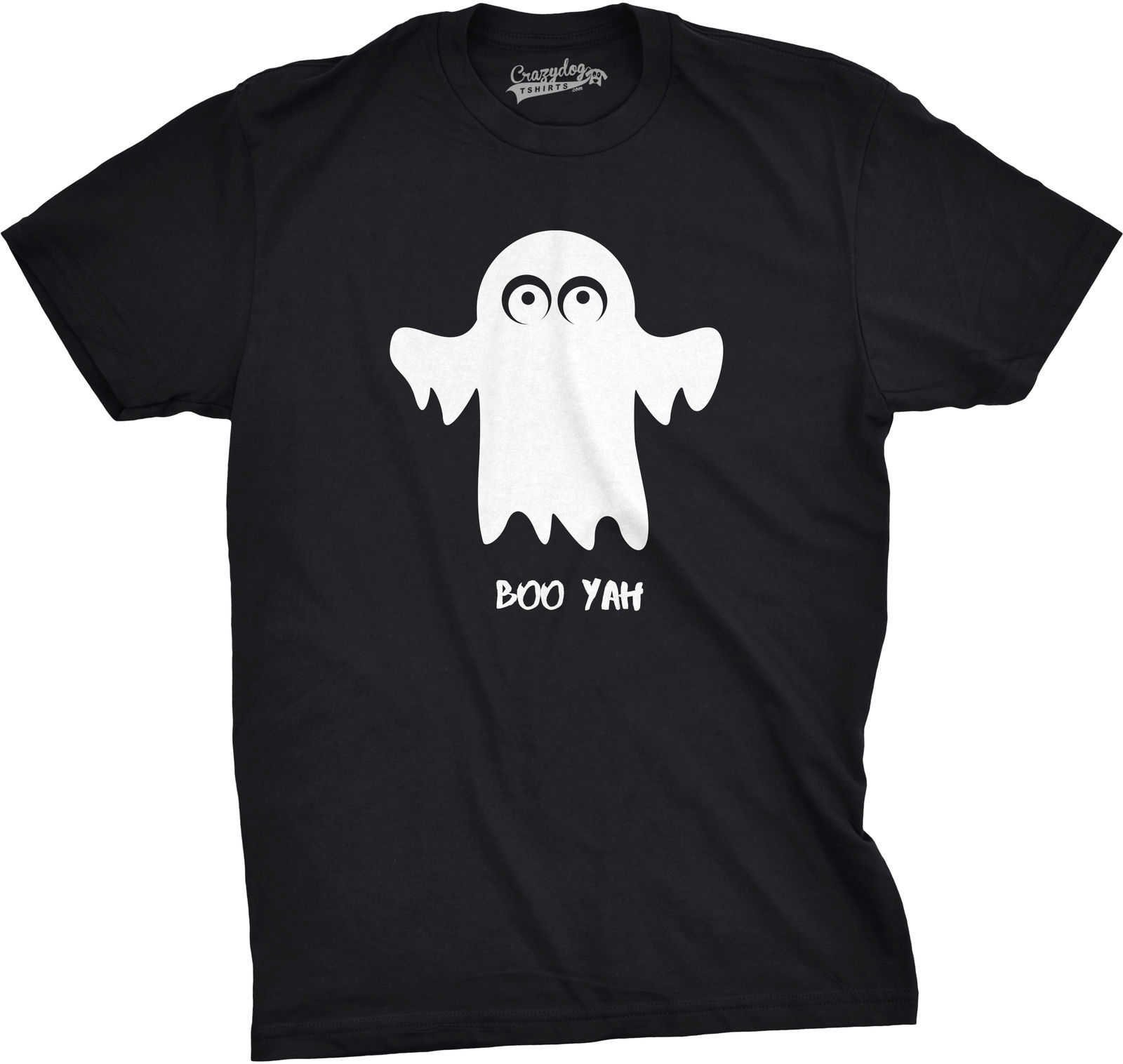 Mens Boo Yah Funny Spooky Cute Halloween October Fall Ghost T shirt Harajuku Tops t Fashion Classic Unique free shipping