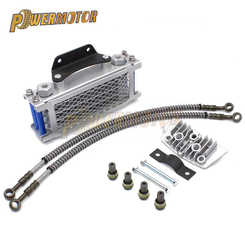 Motorcycle Oil Cooling Cooler Radiator Oil Cooler Set For 50cc 70cc 90cc 110cc <font><b>125cc</b></font> 140cc Horizontal <font><b>Engine</b></font> Chinese Made image