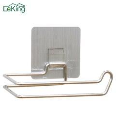 LeKing туалетный кухонный держатель для рулона бумаги из нержавеющей стали, многоразовые моющиеся крючки для хранения, аксессуары для ванной ...