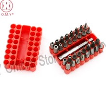 OMY 33pcs Screwdriver Security Bit Set Torx Tamper Screws Hex Key Phillips Slotted Tri-Wing Car Repair Screwdriver Hand Tool Kit(China)