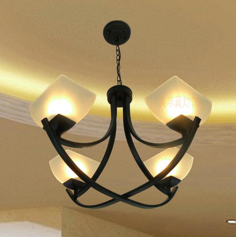 Continental Iron bronze chandelier lighting fixtures minimalist ...