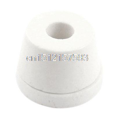цена на White 12mm Hole Diameter Wire Tapered Ceramic Electrical Insulator AC250V 500C