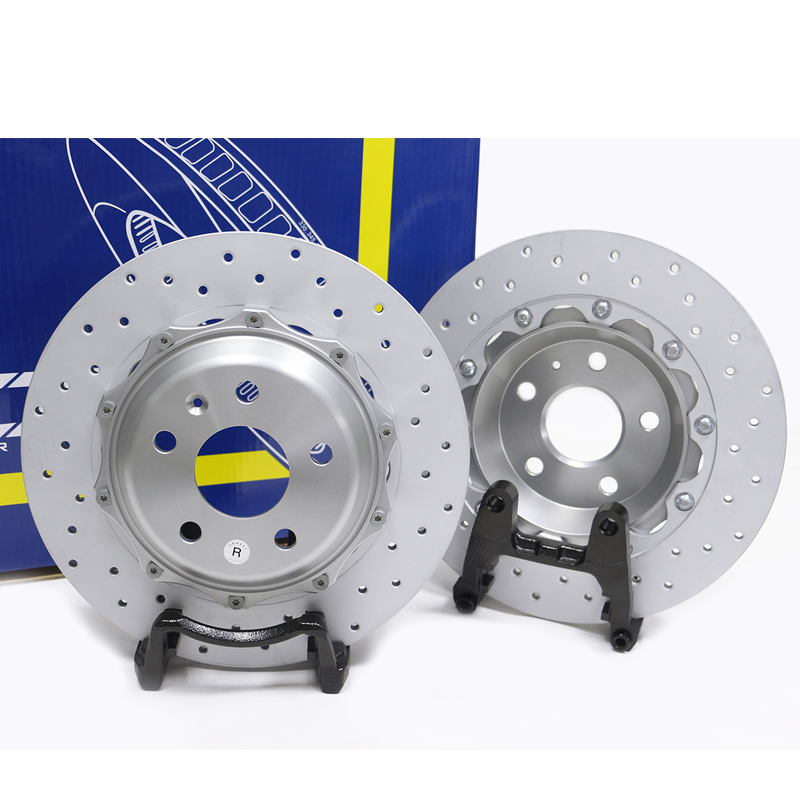 KM039731 Max Brakes Front Supreme Brake Kit Fits: 2013 13 Toyota Yaris w//Rear Drum Brakes Premium Slotted Drilled Rotors + Ceramic Pads