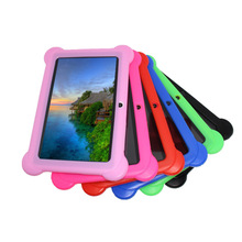 "Niños Estudio de juegos de PC de la Tableta de 7 ""Quad Core Android 4.4 de Allwinner A33 reproductor de google wifi 8 GB 7 colores Funda de Silicona de Regalo"