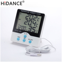Updated Digital Thermometer Hygrometer Electronic Temperature Humidity Meter Weather Station Indoor Outdoor Tester Alarm Clock