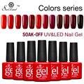 Saviland Profesional Gradiente Rojo Serie Colores Esmaltes Semi Permanentes UV Esmalte de Uñas de Gel Empapa Del Gel Del Clavo Laca