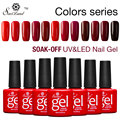 Saviland Professional Gradient Red Series Colors Esmaltes Semi Permanentes UV Nail Gel Polish Soak Off Nail Gel Lacquer