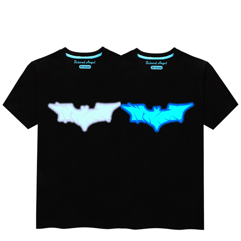 HTB1 DR9R4YaK1RjSZFnq6y80pXaF - Luminous Short Sleeves T-Shirt For Boys T Shirt Spiderman Christmas Teen Girls Tops Size 3-15 years Teenage Toddler Boy Tshirts