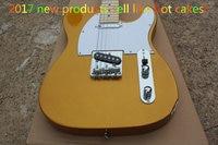 Top quality factory custom guitarra Gold color Electric Guitar Stand Guitars guitarra tleter