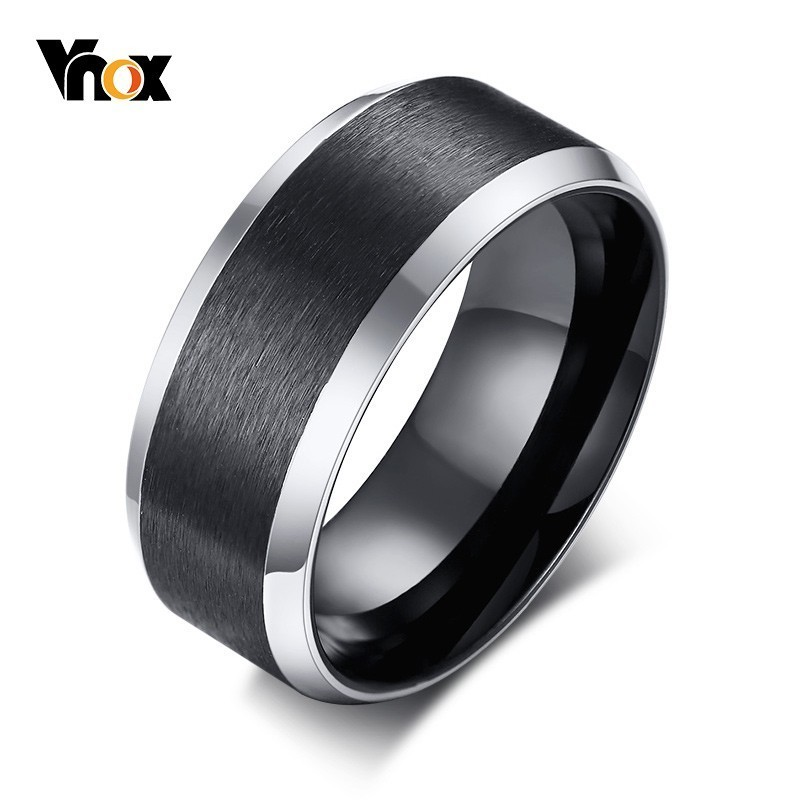 Jewelry & Watches Titanium Grooved 8 Mm Brushed And Polished Wedding Band We Have Won Praise From Customers