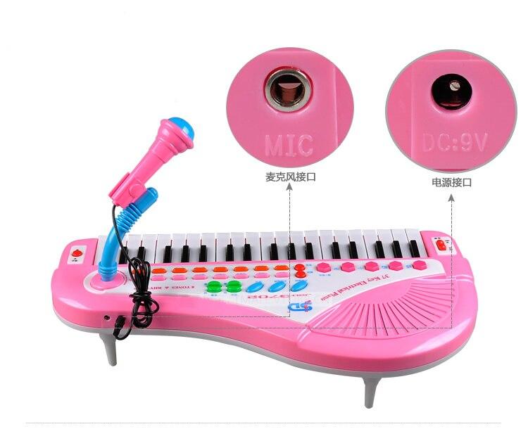 Enfants 37 Touches Avec Un Microphone Microphone Électronique Bébé Éducatif Multifonctionnel Petit Piano Piano Musique
