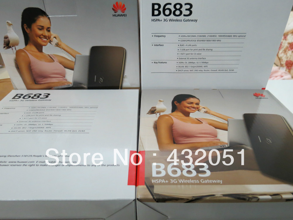 Gratis verzending Unlock Huawei B683 4G 3G draadloze router WPS USB - Netwerkapparatuur - Foto 3