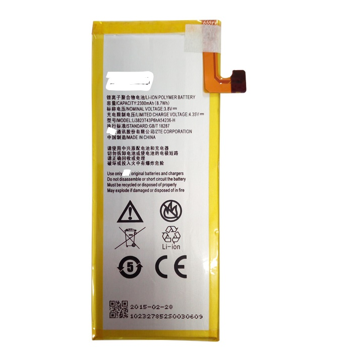 3 8V 2300mAh Li3823T43P6hA54236 H For ZTE Star 1 Star 2 S2002 S2003 S2005 G720T G720C Geek II Battery in Mobile Phone Batteries from Cellphones Telecommunications