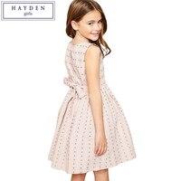 HAYDEN Girls Sleeveless Summer Embroidery Princess Gown Dress Summer 2018 New High Quality Brand Dress For