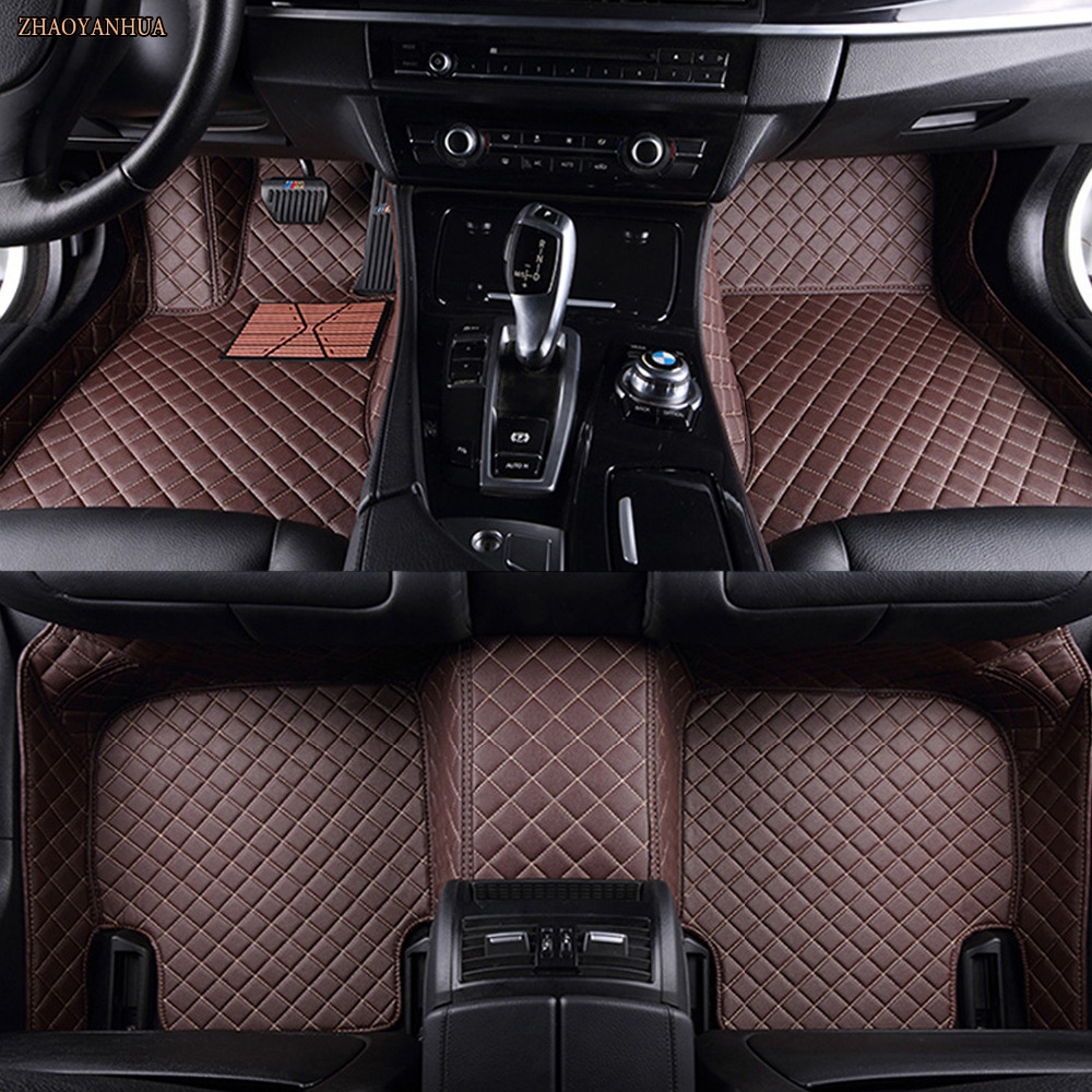 ZHAOYANHUA voiture tapis de sol Pour BMW X3 E83 F25 PVC style de voiture En Cuir tapis tapis tout temps imperméable à l'eau doublures (2004-present
