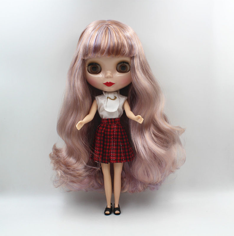 Free Shipping big discount RBL-471 DIY Nude Blyth doll birthday gift for girl 4colour big eye doll with beautiful Hair cute toy