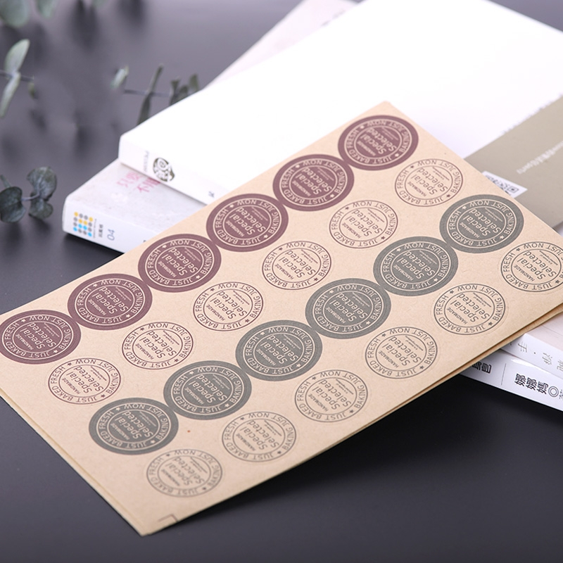 240Pcs/Lot 2018 New Arrival Vintage Special Selected Handmade Cake Sealing Label Kraft Sticker Baking DIY Gift Stickers M1046