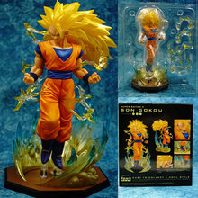Iguarts 3 Son Goku Dragon Ball Z Super Saiyan Dragon-Ball PVC Figura Collectible Toy Modelo 20 cm(China)
