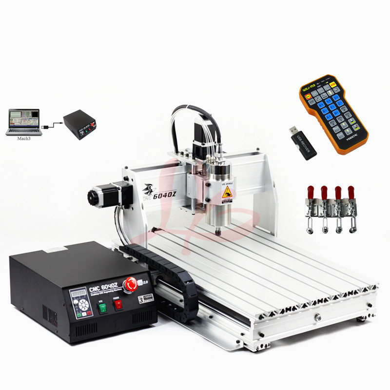 220v/110v water cooling cnc 6040 2200w 3 axis ball screw drilling machine with mach3 remote control mach3 cnc milling machine 6040 4axis wood router with 800w water cooling spindle ball screw rotary axis