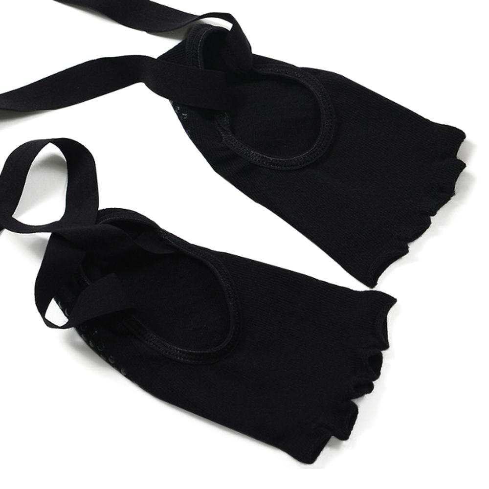 100% katoenen yogasokken en -handschoenen set dames zwart roze - Sportkleding en accessoires - Foto 3