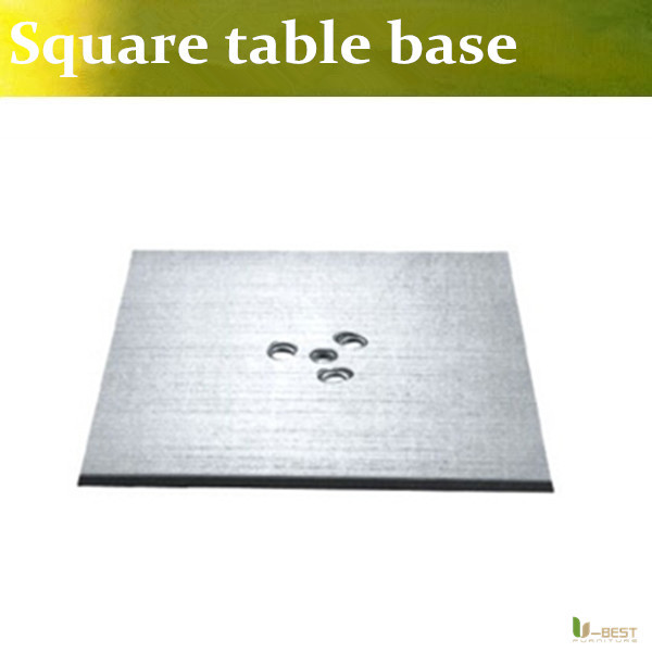 U-BEST Stainless Steel  brushed Square Base for Outdoor / Indoor, square dining base for  wenge top