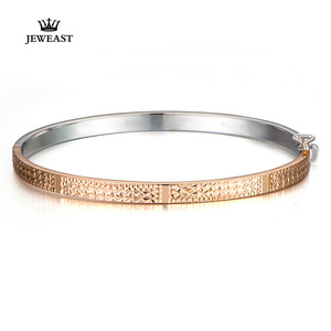 Image 1 - 18K Pure Gold Bracelet Real AU 750 Solid Gold Bangle Good Beautiful Upscale Trendy Classic Party Fine Jewelry Hot Sell New 2020